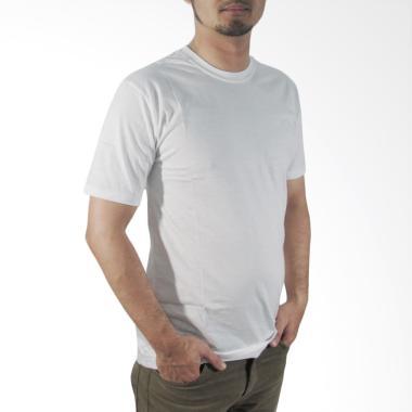 Nazoela Clothing Kaos Polos Pria - Putih Solid