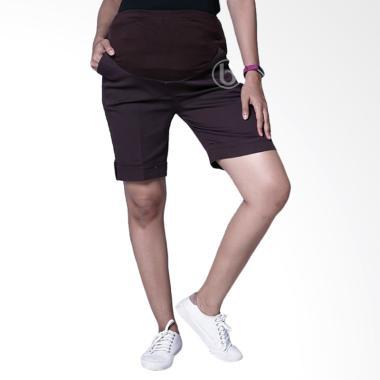 Mama Hamil CLD 113 Celana Hot Pants Hamil Vivi Pants - Coklat