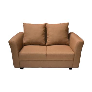 FCENTER Aster 2 Seater Sofa - Brown [Pulau Jawa]