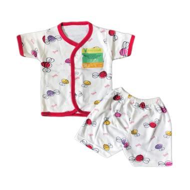 Aruchi Motif Bee Setelan Baju Tidur Anak - Merah
