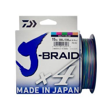 Senar PE Daiwa J Braid X4 300M Ukuran 15 Lb