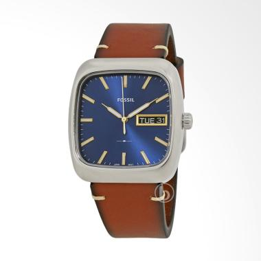 FOSSIL Rutherford Leather Jam Tangan Pria - Brown Blue [FS5334]