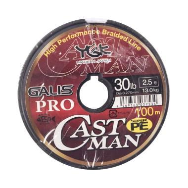 Senar PE YGK Galis Pro Castman 100M Size 2.5 Ukuran 30Lbs