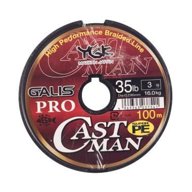 Senar PE YGK Galis Pro Castman 100M Size 3 Ukuran 35Lbs