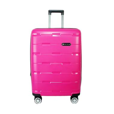 Navy Club 8008 Fiber PP Resleting Anti Tusuk Koper - Pink [20 Inch]