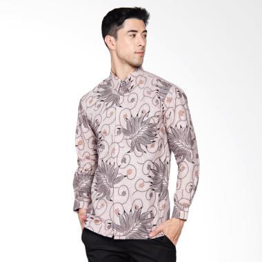 Adiwangsa Batik Modern Slim Fit Kemeja Pria - Abu [034]