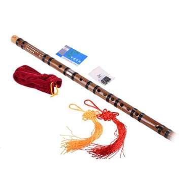 harga Chinese Bamboo Flute dizi C-D-E-F-G key+Flute Bag+Flute Glue+Flute Membrane CFQT Blibli.com