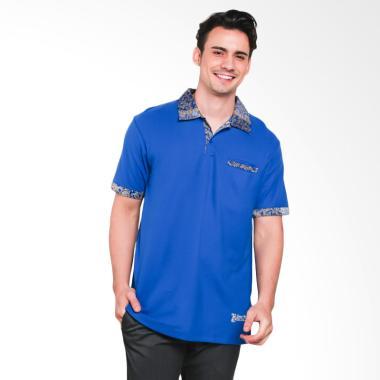 Batik Heritage Kaos Polo Batik Pria - Biru