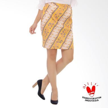 Benangsari Temaram Skirt Rok Batik Wanita - Kuning