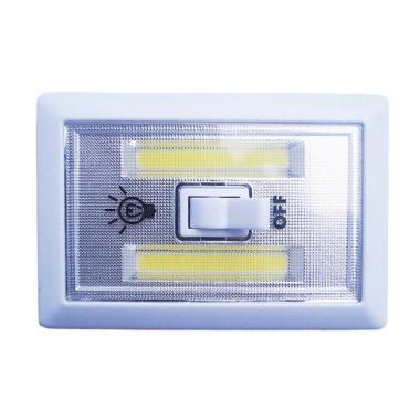 Yangunik JM1128 Kotak Stick Touch Lampu Tempel LED - Putih