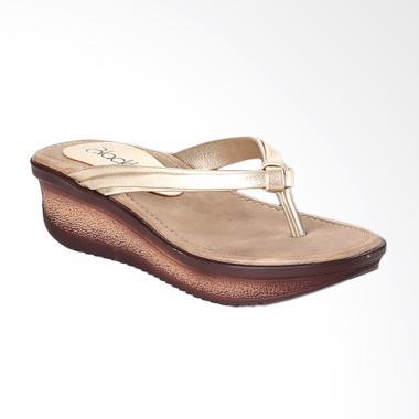 Blackkelly Sandal Wedges Wanita Kasual BLK-LEP 601