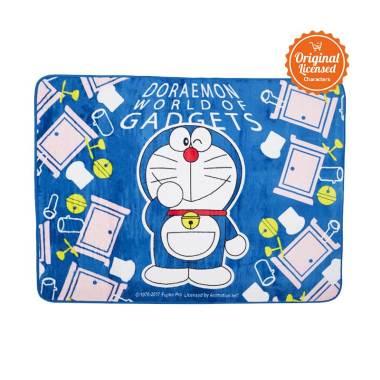 Doraemon Valvet Doraemon Carpet Alas Lantai - Blue