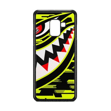 Cococase Troy Lee Designs P51 Hivis Yellow E1528 Custom Casing for Samsung Galaxy A8 Plus 2018