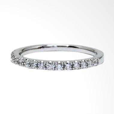 Pentacles FC02399 Wedding Ring White Gold with Diamond