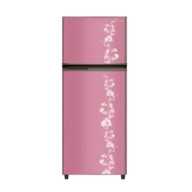 SHARP New Kirei SJ-196ND-FP Motif Bunga Kulkas - Pink [2 Pintu/172 L]