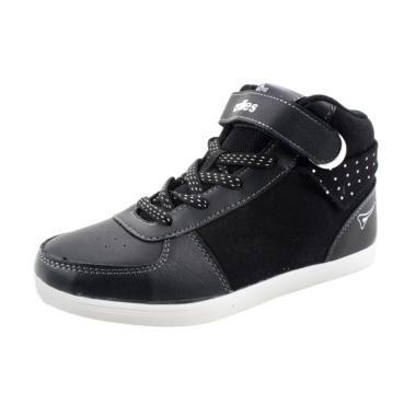 Ardiles Revi Sneaker Sepatu Sekolah Anak Laki-laki - Hitam Abu Tua