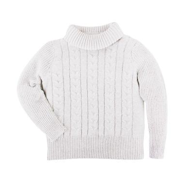 Hello Mici Turtleneck Knitwear Baby Sweater - White