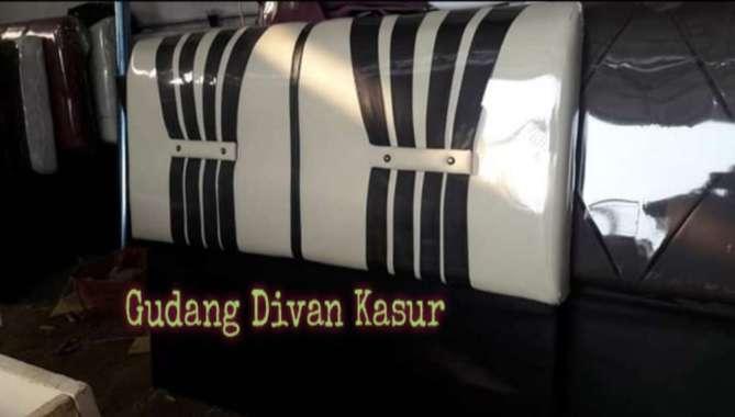 Divan Dipan/Difan Kasur Sandaran Model Modern 120 x 200 Cream