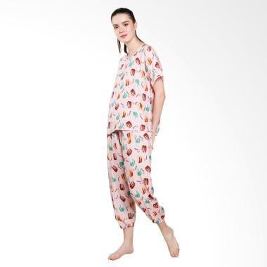 Jo & Nic Macaroon Pajama Setelan Piyama Wanita - Pink