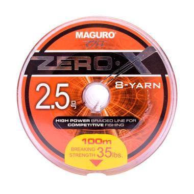 Maguro Zero-X  PE Senar Pancing [Size 2.5/ 35 LBS/ 100 m]