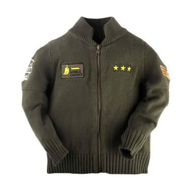 Hello Mici Knitwear Baby Bomber Jaket Anak - Army