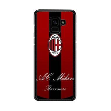 Guard Case Ac Milan Logo O1204 Cust ... msung Galaxy A8 2018 Plus