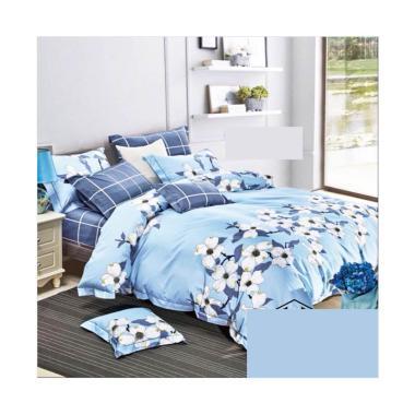 Melia Bedsheet J-3930 Katun Jepang Set Sprei - Blue