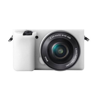Godric Silicone Sony Alpha A6000 A6 ... Kamera Mirrorless - Putih