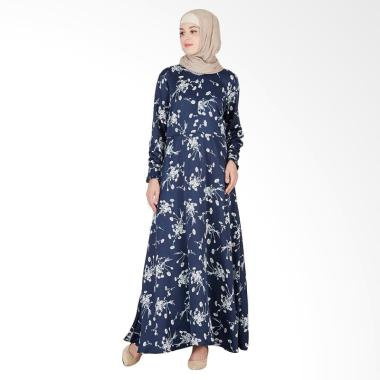 LAMAK Anisa Dress Muslim Wanita - Blue Navy