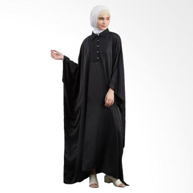 SYAHEERA Abaya Texture Elegant Dress Muslim Syar'i Wanita - Black