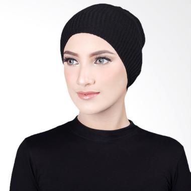 Cantik Kerudung Misha Cape Rajut Inner Hijab - Black No.1