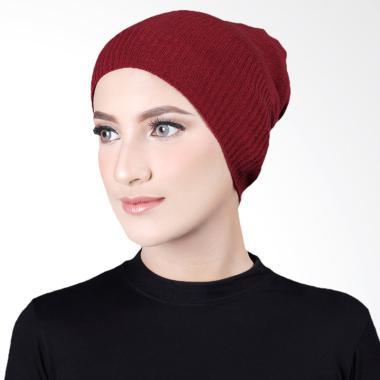 Cantik Kerudung Misha Cape Rajut Inner Hijab - Maroon No.3