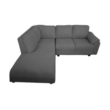 FCENTER Velona L Sofa - Dark Grey [Pulau Jawa]