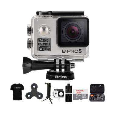 BRICA B-PRO 5 Alpha Edition 2 AE2 C ... Spin Action Cam  - Silver