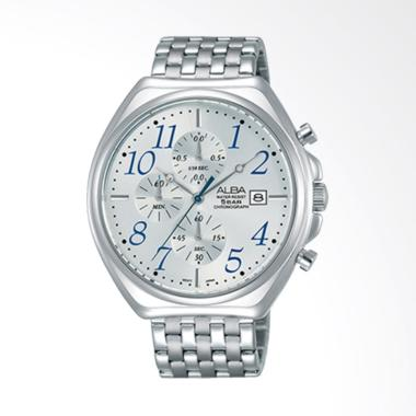 Alba Chronograph Stainless Steel St ...  Pria - Silver [AM3477X1]