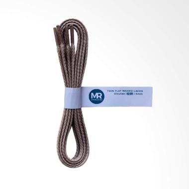 Mr.Shoelaces Oisutaa Lilin Gepeng Tali Sepatu - Grey [Thin/5 mm/