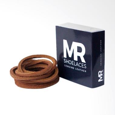 Mr.Shoelaces Kulit Tali Sepatu - Tan [3-4mm/60 cm]