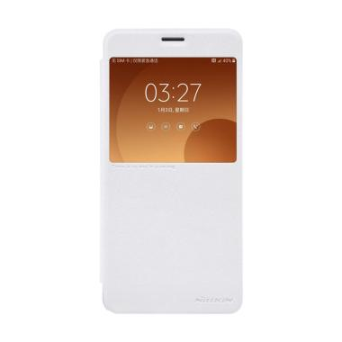Nillkin Sparkle Leather Flip Cover  ... ung Galaxy C9 Pro - White