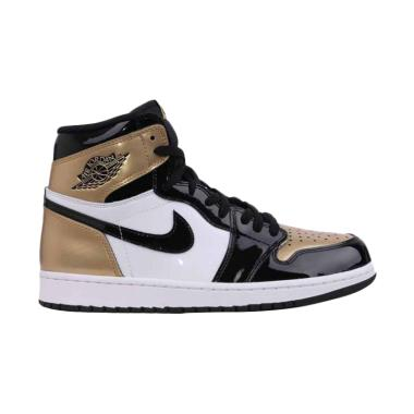 NIKE Men Air Jordan 1 Retro High Go ... - Black Gold [861428-001]