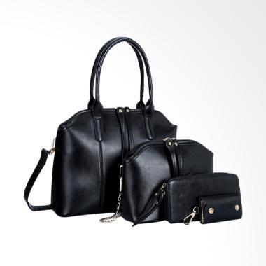Lansdeal Shoulder Bag Women Handbag Tas Wanita - Black
