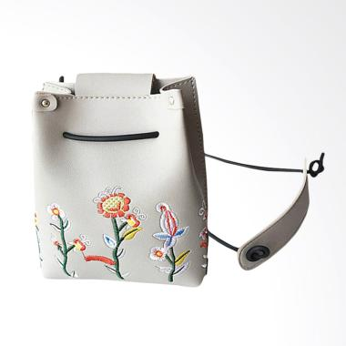 Lansdeal Women Retro Floral Sling Bag Tas Selempang Wanita - Grey