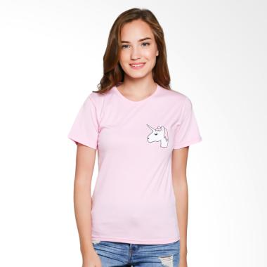 JCLOTHES Kaos Wanita Tumblr Tee Branded Unicorn Mini - Pink
