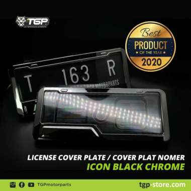 harga Dudukan Plat Nomor Motor ICON Chrome Aksesoris Variasi Beat Vario Nmax Blibli.com