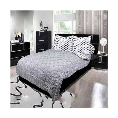 My Love Onyx Set Sprei - Grey [Tinggi 30 cm]