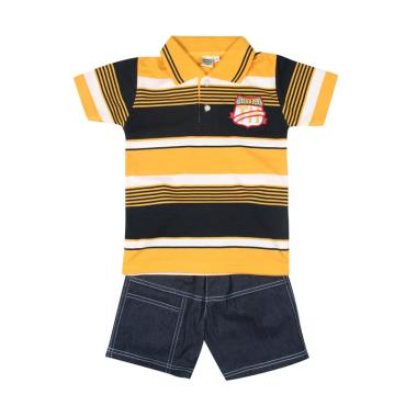 TOMPEGE TP-93101 Kerah Lakos Polo Baju Setelan Anak Laki - Kuning