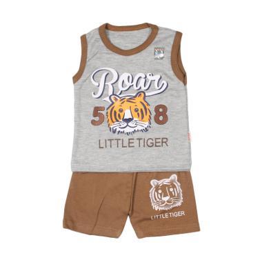 UAKA BABY UK-411143 Setelan Singlet Oblong Baju Anak Bayi - Coklat
