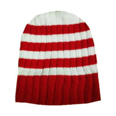 OEM Rajut Striped Merah Putih Beani ...  Anak - Red [0 - 4 Tahun]