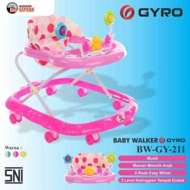 harga Baby Walker Bayi Gyro BW GY 211 Kereta Dorong Balita Musik Mainan SNI Pink Blibli.com