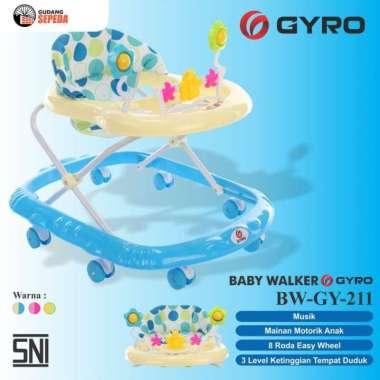 harga Baby Walker Bayi Gyro BW GY 211 Kereta Dorong Balita Musik Mainan SNI Biru Blibli.com