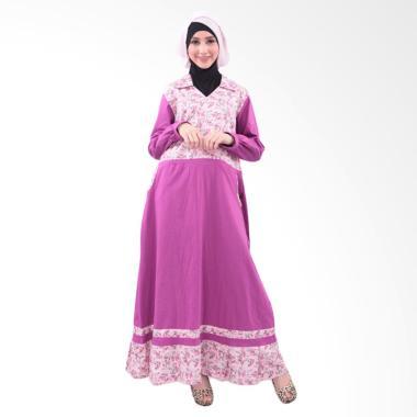 Qirani Mawar 26 Gamis Baju Muslim Wanita - Purple
